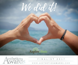 Aesthetics Awards 2017…We've Made the Final!